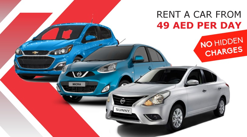 Rent a Car From 49 AED