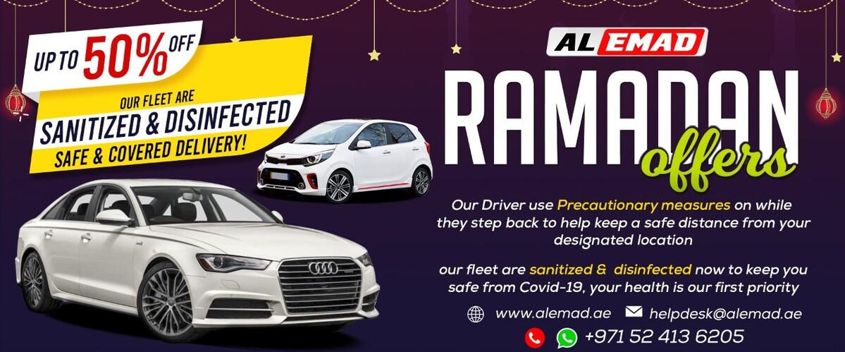 Ramadan Offer | Al Emad Car Rental Dubai | Up to 50% Discount